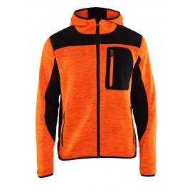 Veste tricotée à capuche Orange/Noir 4930 Blaklader