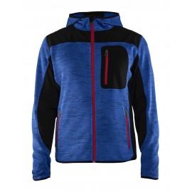 Veste tricotée à capuche Bleu roi/Noir 4930 Blaklader