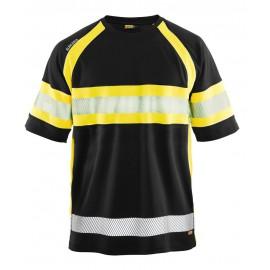 T-shirt HV anti-UV anti-odeur Noir/Jaune 3337 Blaklader