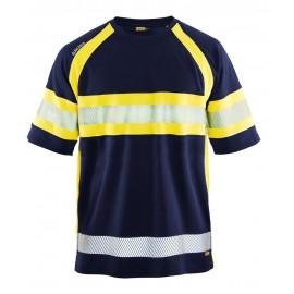 T-shirt HV anti-UV anti-odeur Marine/Jaune 3337 Blaklader