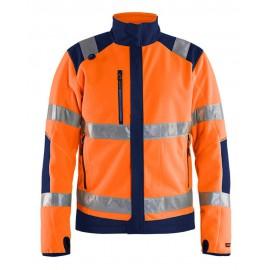 Polaire coupe-vent imper-respirante HV Orange/Marine 4888 Blaklader