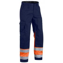 Pantalon Haute Visibilité Marine/Orange 1564 Blaklader
