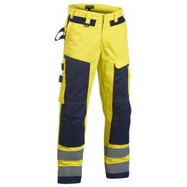 Pantalon Artisan Multinormes Jaune/Marine 1578 Blaklader