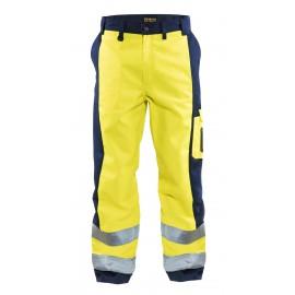 Pantalon haute visibilité Jaune/Marine 1583 Blaklader