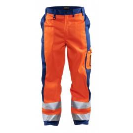 Pantalon haute visibilité Orange/Bleu roi 1583 Blaklader