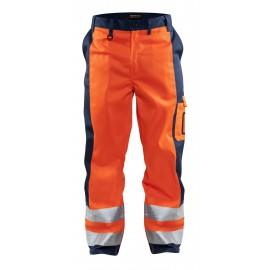 Pantalon haute visibilité Orange/Marine 1583 Blaklader