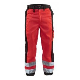Pantalon haute visibilité Rouge/Noir 1583 Blaklader