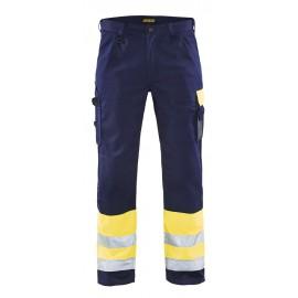 Pantalon haute visibilité Jaune/Marine 1584 Blaklader
