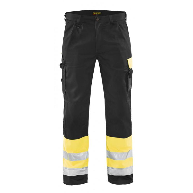 Pantalon haute visibilité Jaune/Noir 1584 Blaklader