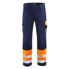 Pantalon haute visibilité Orange/Marine 1584 Blaklader