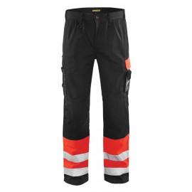 Pantalon haute visibilité Rouge/Noir 1584 Blaklader