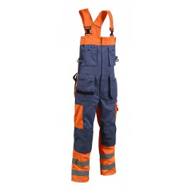 Cotte à Bretelles haute visibilité Orange/Marine 2603 Blaklader