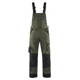 Cotte à bretelles Paysagiste Vert armée/Noir 2654 Blaklader