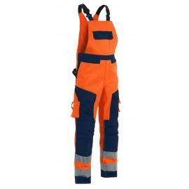 Cotte à bretelles haute visibilité Orange/Marine 2660 Blaklader