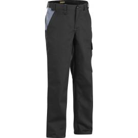 Pantalon Industrie Noir/Gris 100% coton 1404 Blaklader