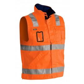 Veste sans manches haute visibilité Orange/Marine 8505 Blaklader