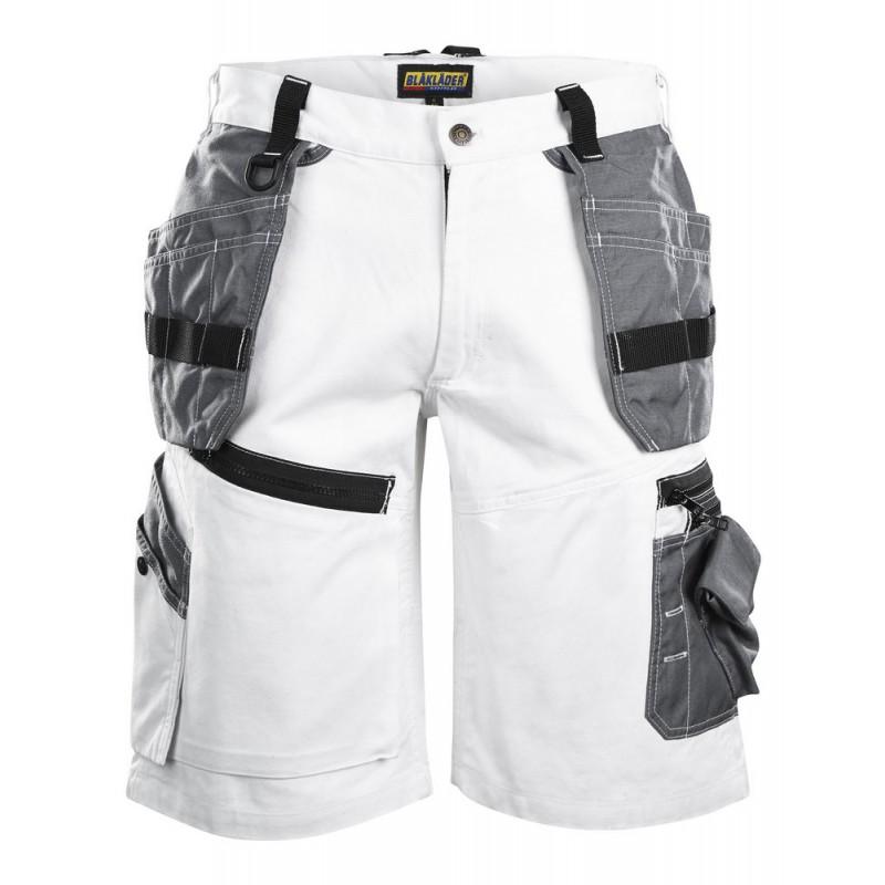 Short X1500 peintre Blanc/Gris 1512 Blaklader