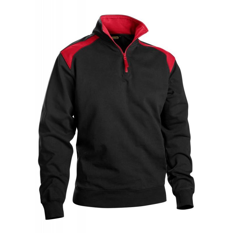 Sweat camionneur Noir/Rouge 3353 Blaklader